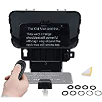 Desview T3 Teleprompter, Teleprompters for Smartphone Tablets up to 11 inch 70/30 Beam Splitter Glass with APP & Remote…