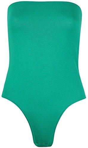 Green In Tinta Elasticizzato Maniche Senza Donna Jade Seno; Da Sul Lungo Body Unita q8w477
