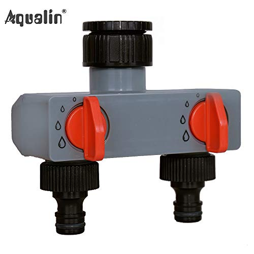 (2 Ways Water Distributor Adapter | Plastic Connector | Hose Splitters | for Hose | Tube Water Faucet )