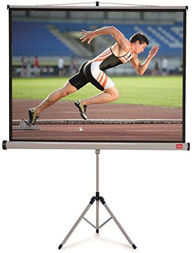 Nobo Projektionsleinwand mit Dreibeinstativ für Heimkino/Gaming/Streaming mit Stativ 4:3 Bildseitenformat (1750x1325mm)