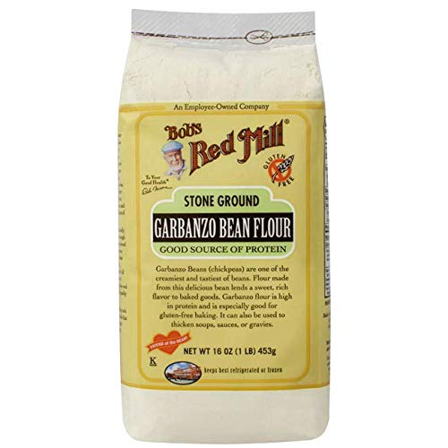 Stone Ground Garbanzo Bean Flour 16 Ounce (1 lb) (453 g) - Bean Flour Garbanzo