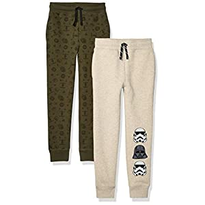 Best Epic Trends 410s37NSgPL._SS300_ Amazon Brand - Spotted Zebra Boys' Disney Star Wars Marvel Fleece Jogger Sweatpants