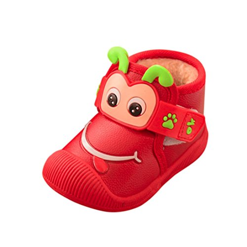 Huhu833 Kinder Neugeborenen Cartoon Warm Baby Mädchen Schuhe Turnschuhe Stiefel Rot