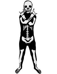 Official Glow Skeleton Kids Costume - Medium (Age 8-10)