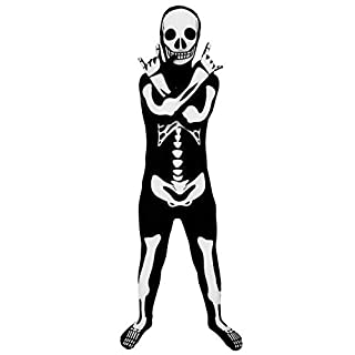 Morphsuits Official Glow Skeleton Kids Costume - Medium (Age 8-10)