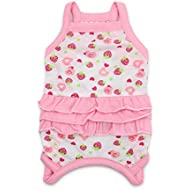 DroolingDog Pink Dog Clothes Girl Small Dog Shirts for Small Dogs Girl, Large, Pink