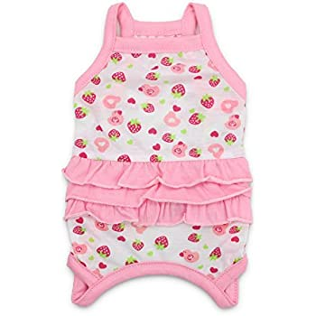 DroolingDog Small Dog Girl Clothes Dog Shirts Pet Dress for Small Dogs Girl, Small, Pink