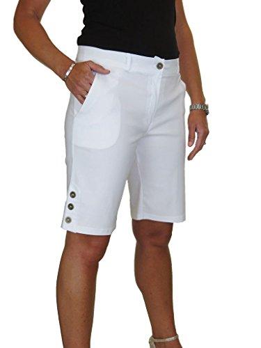 lunghezza con ICE Bianco ginocchio il tratto sopra Pantaloncini gUxw58xt