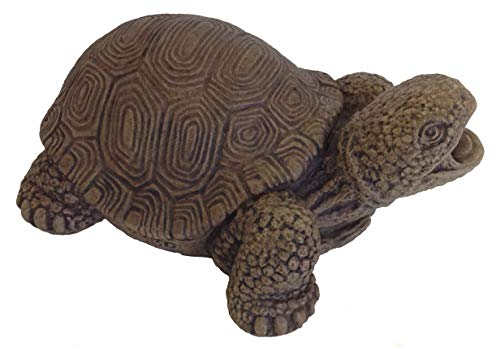 - Massarelli's Turtle Plumbed Spitter - Solid Cast Stone Lifelike Sculpture, Great Pond and Garden Gift Idea, Durable and Fun Statue Art