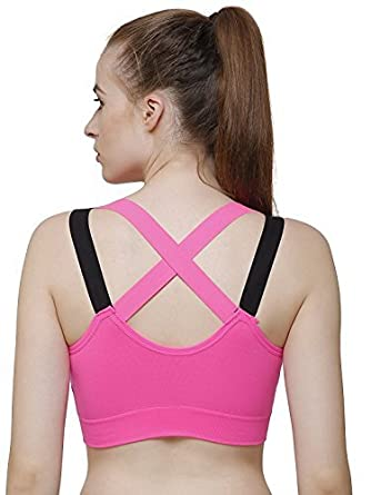 23b34357c4190 Ritu-Creation Women s Polyamide Padded Full Coverage Quick Dry Shockproof  Racer Back Sports Bra with Removable Soft Cups