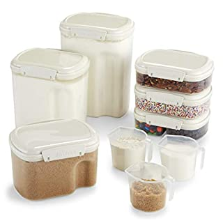 Sistema Bake IT Collection Food Storage Containers, Clear/White, 9-Piece Set (B005HNXG1K) | Amazon Products