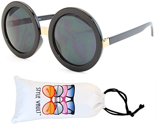 V3052-VP Style Vault Crazy Round Oversized Sunglasses (S2183V - 60s Glasses Womens