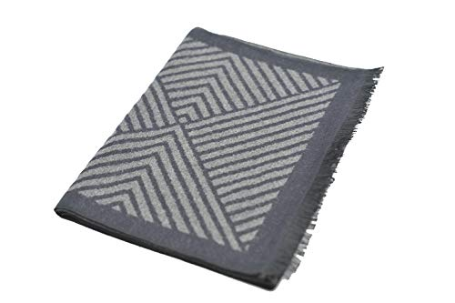 Tacther.H Men Winter Cashmere Warm Scarf, Black
