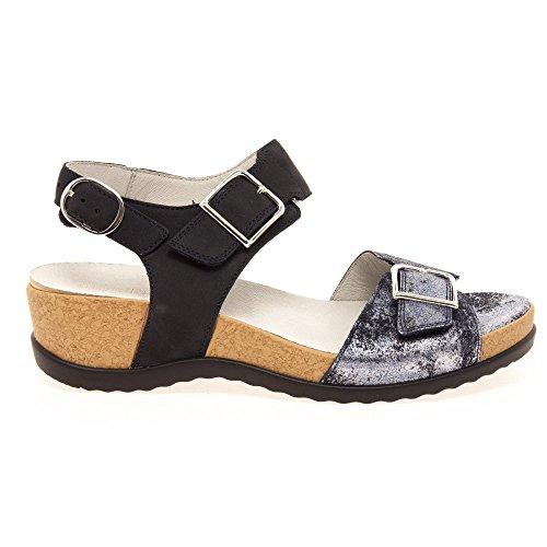 Waldlaufer 933005 208 194 Women's Sandals in Blue Nubuck 159 Notte fJhFk