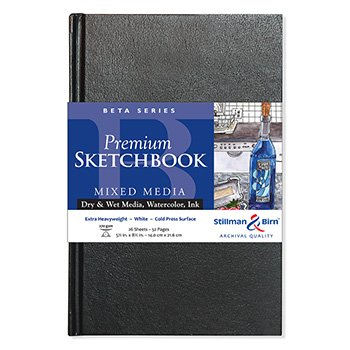 Stillman & Birn Beta Hardbound Sketchbook Heavyweight 180lb, Natural White, 26 Sheets, 5.5x8.5