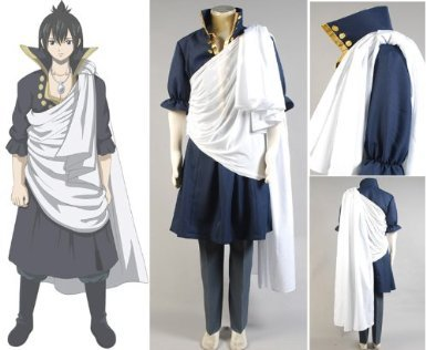 [Cosdaddy` Fairy Tail Zeref Cosplay Costume] (Zeref Cosplay Costume)