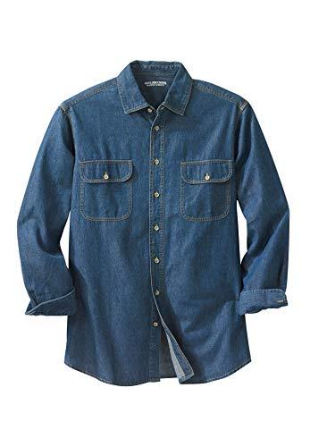 - Boulder Creek Men's Big & Tall Long-Sleeve Denim Shirt, Stonewash Denim Big-5XL