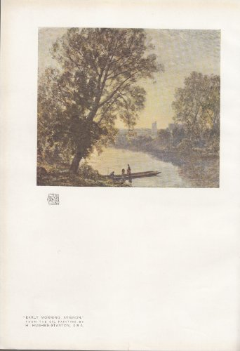 Early Morning Avignon - Vintage Print From An Oil Painting