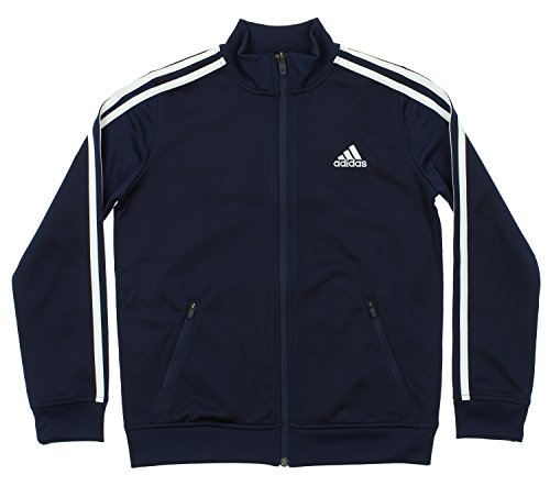 - adidas Kids Boys Separates Training Track Jacket (Big Kids), Colligiante Navy/White LG (14-16
