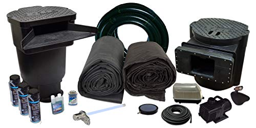 HALF OFF PONDS Savio Signature Series with UV Water Garden and Pond Kit, Large with 20 Foot x 30 Foot EPDM Liner