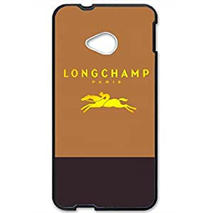 On sales 3D Hard plastic Customize Longchamp Paris Logo Phone Case Cover for Htc One M7 Case_Brown