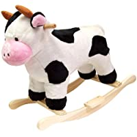 Deals on Happy Trails Cow Plush Rocking Animal