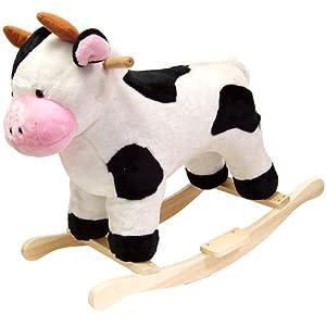 Happy Trails Cow Plush Rocking Animal