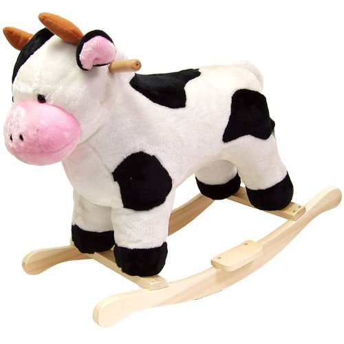 Happy Trails Cow Plush Rocking Animal