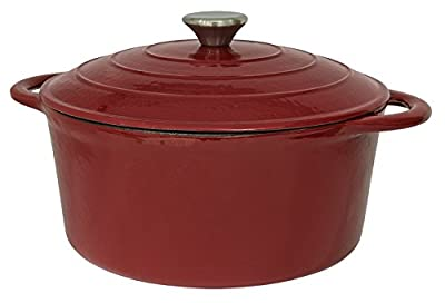 Useful UH-CI136 5.5QT Cast Iron Enamel Covered Round Dutch Oven With Lid
