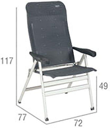 Dossier ergonomique 81 cm Dossier haut Bras Chaise de camping Avec 7 niveaux r/églables Chaise pliante XXL Extra Large Super stable Capacit/é de transport 200 Kilo