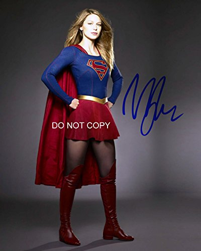 Melissa Benoist of Supergirl DC Tv show reprint signed autographed 8x12 photo #5 RP from Loa_Autographs