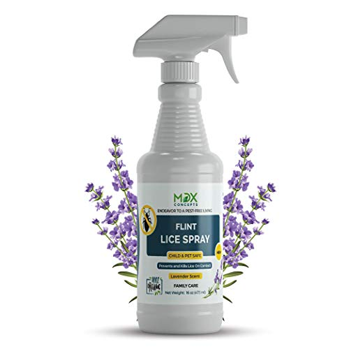 MDXconcepts Organic Lice Killer - Repellent Spray for Home, Bedding, Belongings - Child and Pet Safe - Non Toxic - Non Staining