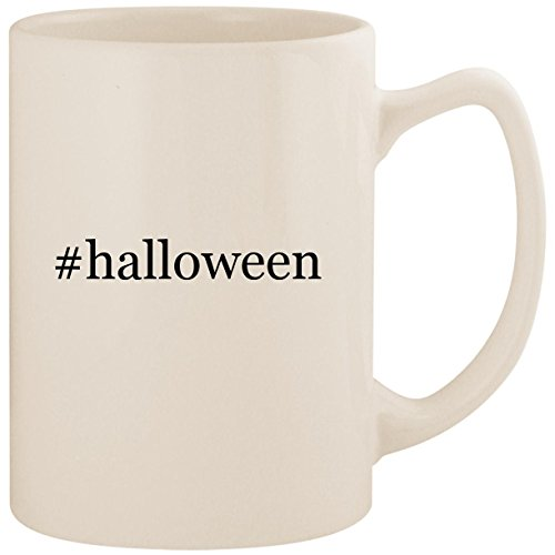 #halloween - White Hashtag 14oz Ceramic Statesman Coffee Mug Cup]()