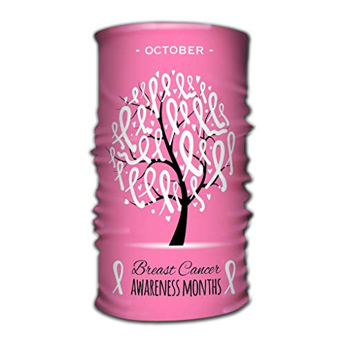 Bandana Headband Outdoor Daily Yoga Magic Headscarf Multifunctional UV Protection Bundle Tree Pink Ribbons Breast Cancer Awareness Symbol Tree