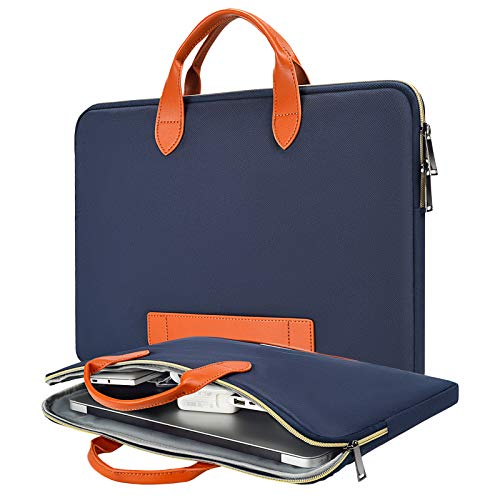 15.6 Inch Waterproof Laptop Bag Men Women Briefcase with Handle for Acer Aspire E15/Predator 15.6, HP Envy/Spectre x360 15.6, Lenovo Yoga 720/730 15.6, MSI GS65 ASUS Dell Inspiron 15 Case, Navy Blue