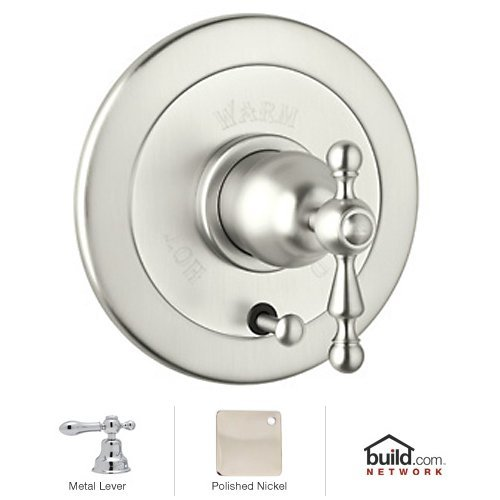 Rohl AC700LM-PN Cisal Bath Collection Volume Control Pressure Balance Trim with Diverter Classic Metal Lever