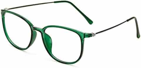 13f406bed9 D.king Womens Oversized Horn Rimmed Clear Lens Round Circle Glasses Frames  Eyeglasses