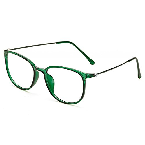 D.king Womens Fashion Oversized Horn Rimmed Clear Lens Round Circle Glasses Frames Eyeglasses - Glasses Eye Green