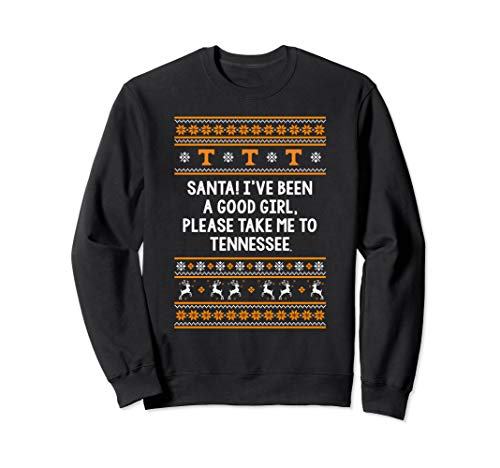 Tennessee Volunteers Santa Good Girl Sweatshirt - Apparel