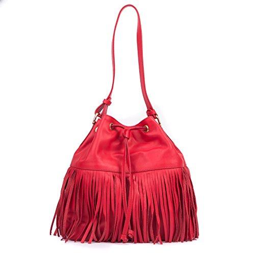 Nardelli Soft Bag avec des franges, sportif Convient pour le travail, shopping, assez pour transporter tout ce dont vous avez besoin, même de longues journées.