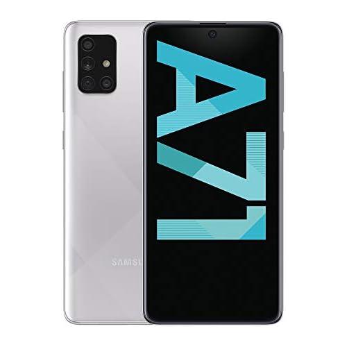 chollos oferta descuentos barato Samsung Galaxy A71 Smartphone de 6 7 FHD 4G Dual SIM 6 GB RAM 128 GB ROM Cámara Trasera 64 MP Cámara Frontal 32 MP Color Plata Metálico Versión Española