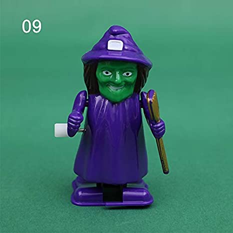 Halloween Clockwork Toy Jumping Ghost Funny Prank Decoration Walk Wind-Up Toy for Kids Gift