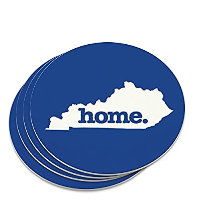 Kentucky KY Home State Solid Navy Blue Officially Licensed Novelty Coaster Set