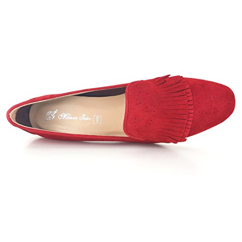 Zapato MARÍA JAEN modelo 4069N ante (rojo)