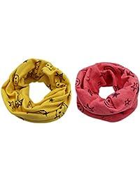 RARITY-US 2 pcs Unisex Baby Toddler Kids Knit Loop Scarf Winter Warm Cotton Wrap Shawl Scarf Neckwarmer