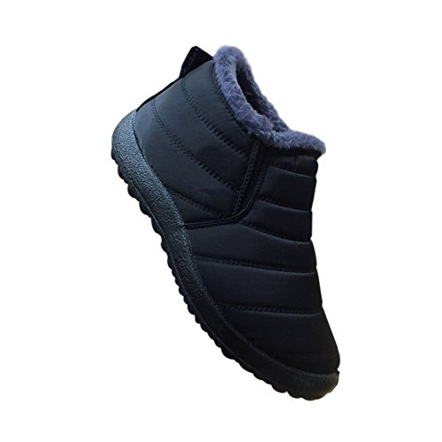 Deylaying Fully Shoes Women Snow Fur Winter Ankle Casual Waterproof Warm Boots Black Lined Outdoor X6X7wxUqr