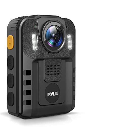 Police Security Video Compact Camera - HD 2304x1296p Rechargeable Wireless Waterproof Wearable Law Enforcement Mini Surveillance Cam, Audio Video Recording, Night Vision, Motion Detector - Pyle PPBCM6
