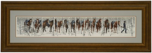 Art Signed Matted Print - Bev Doolittle TWO INDIAN HORSES Signed & Numbered Limited Edition Fine Art Print