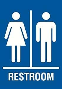 Amazon.com: Familia Restroom señal azul – Hombres Mujeres ...