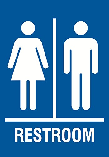 Family Restroom Blue Sign